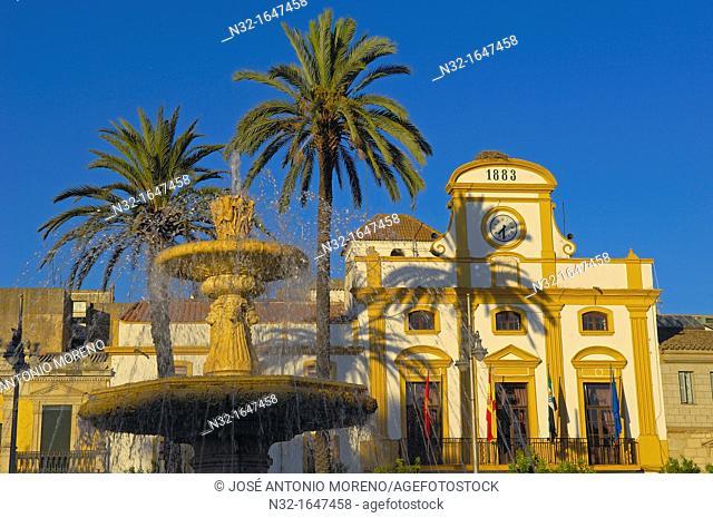 Plaza de España square, Merida, Badajoz province, Extremadura, Ruta de la Plata, Spain