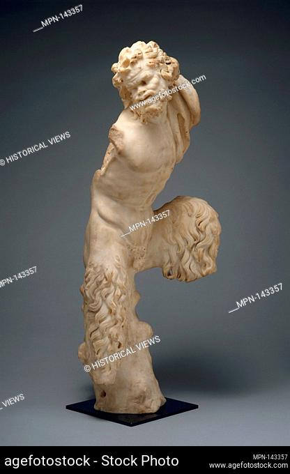 Marble statue of Pan. Period: Imperial; Date: 1st century A.D; Culture: Roman; Medium: Marble; Dimensions: H. 26 5/8 in. (67