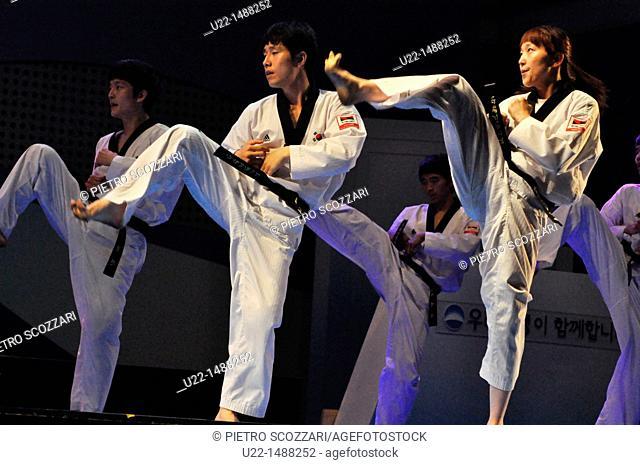 Seoul (South Korea): taekwondo show in Seoul Square