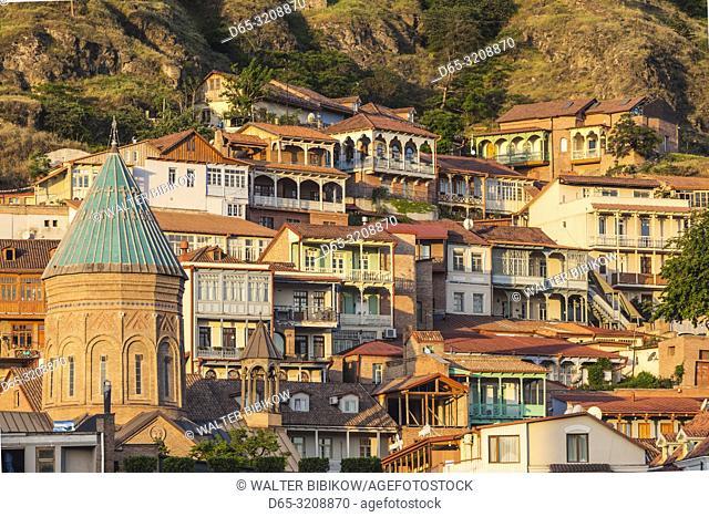 Georgia, Tbilisi, Old Town, dawn