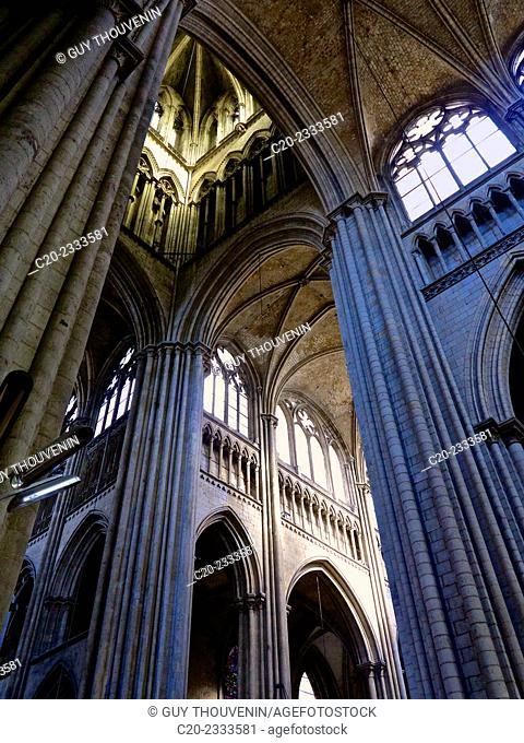 Notre Dame cathedral, 12th 15th.,inside, Rouen, Normandy,France