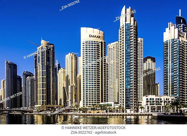 Emaar skyscrapers at Dubai Marina, Dubai, UAE