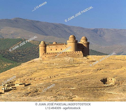 Castle, La Calahorra. Granada province, Andalusia, Spain