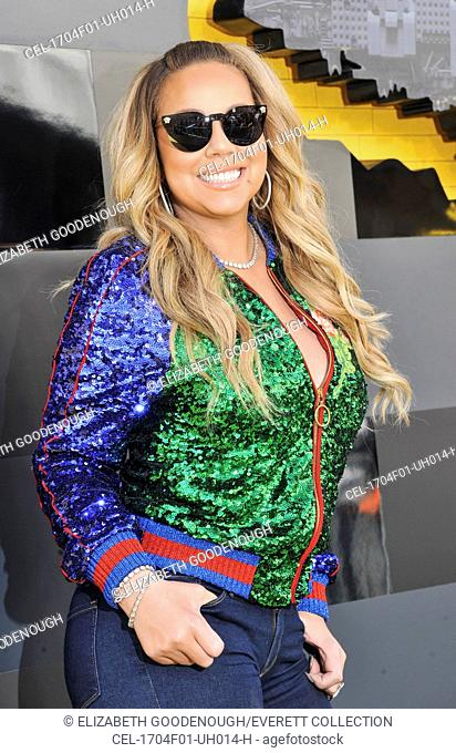Mariah Carey at arrivals for THE LEGO BATMAN MOVIE Premiere, Regency Westwood Village Theatre, Los Angeles, CA February 4, 2017