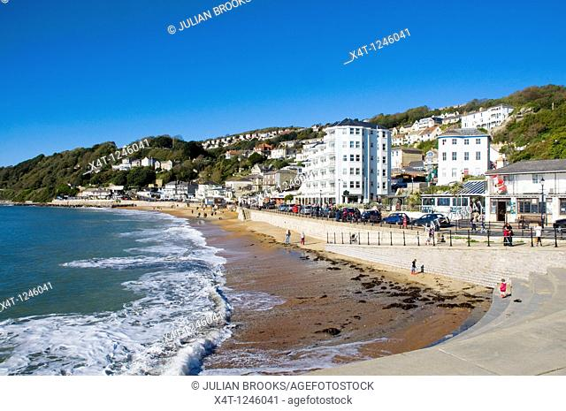 The Esplanade at Ventnor, on the Isle of Wight, Sunny day with blue sky