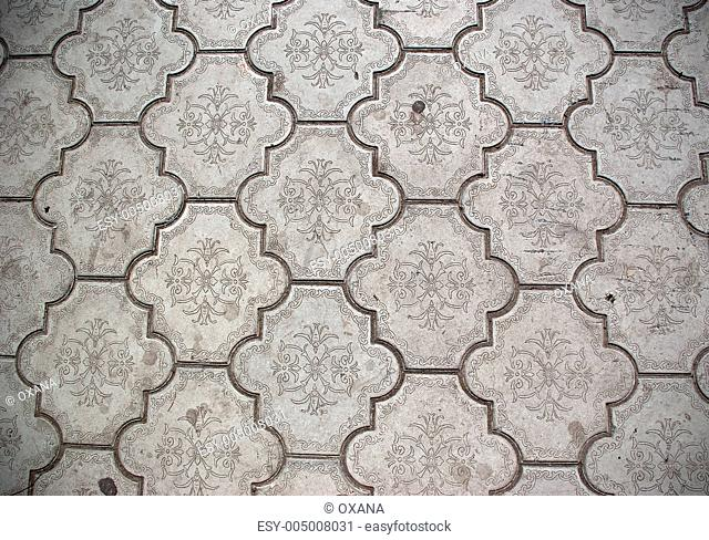 Closeup of ceramic floor tiles