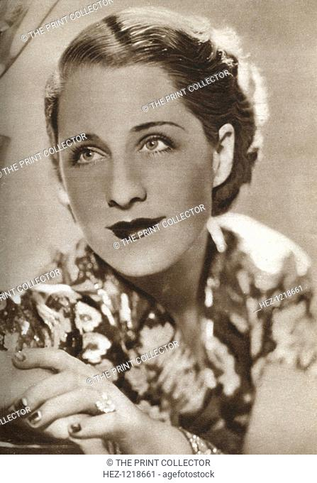 Norma Shearer, Canadian-born actress, 1933. Shearer (1902-1983) was an Academy Award-winning actress in Hollywood and one of the major female stars of the 1930s