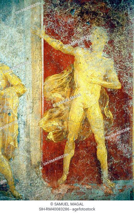 Italy, Naples, Naples Museum, from Pompeii, House of Diodcuri, Massacre of Niobids