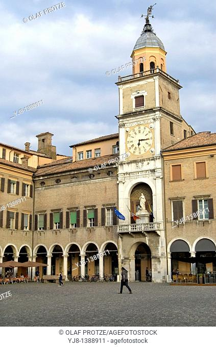 Palazzo Communale at the Piazza Grande of Modena, Central Italy