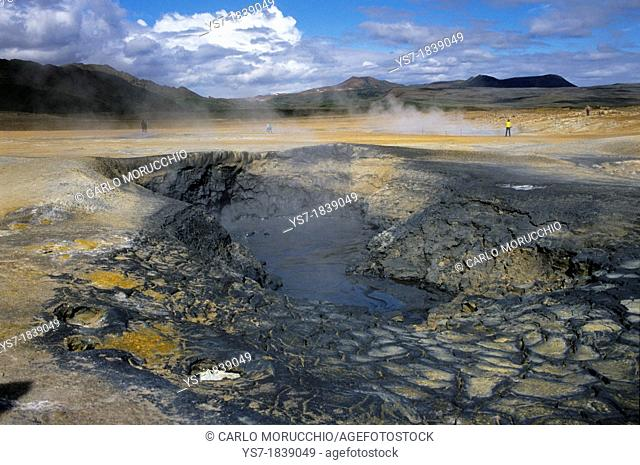 Geothermal activity in the surroundings of Lake Myvatn caldera, Northern Iceland