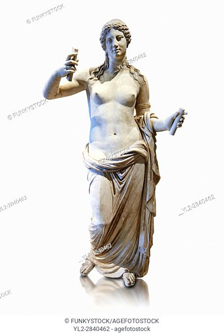 Aphrodite- type known as the Venus of Arles. A Roman statue in marble of the 1st - 2nd century AD in marble from Rome. The statue is a 1