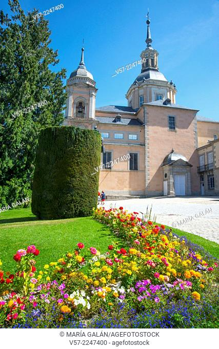 Collegiate church. La Granja de San Ildefonso, Segovia province, Castilla Leon, Spain