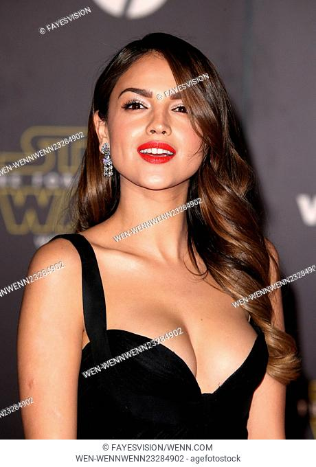 """Premiere Of Walt Disney Pictures And Lucasfilm's """"""""Star Wars: The Force Awakens"""""""" Featuring: Eiza Gonzalez Where: Hollywood, California"""