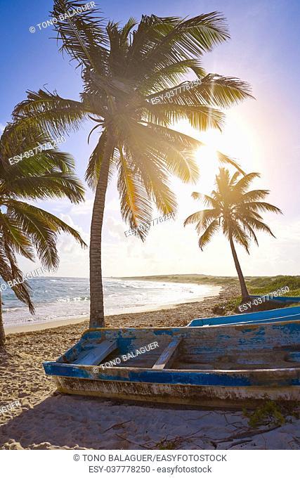 Chen Rio beach Cozumel island in Riviera Maya of Mayan Mexico