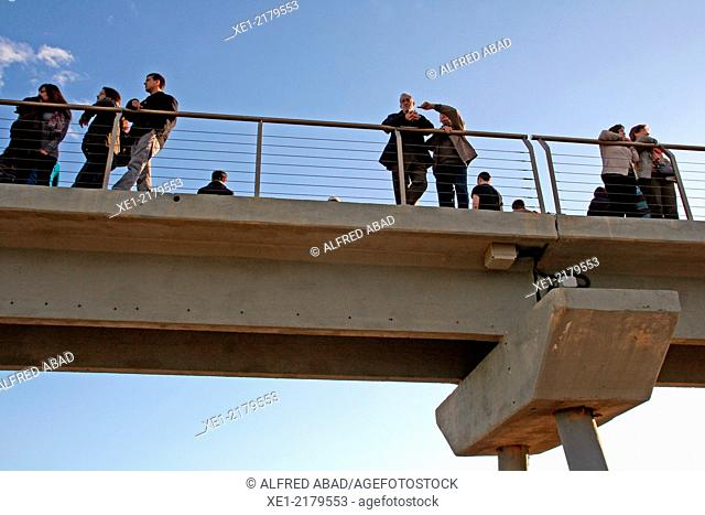 Pont del Petroli, Badalona, Catalonia, Spain