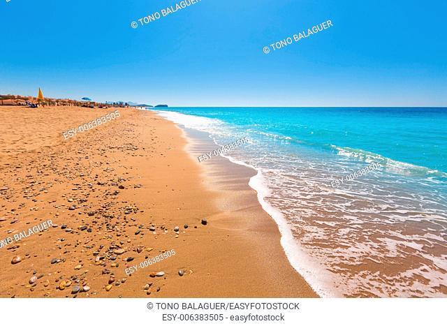 Bolnuevo beach in Mazarron Murcia at Mediterranean spain sea