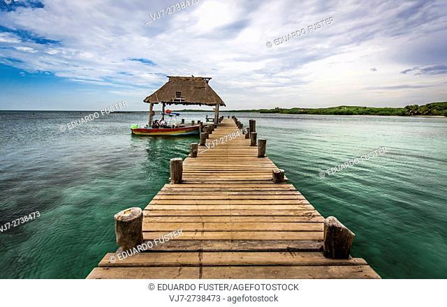 Port in Isla Contor ecological reserve, Riviera Maya