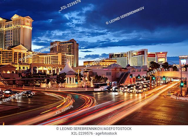 Las Vegas Boulevard. Las Vegas, Nevada, USA