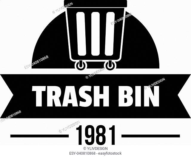 Bin plastic logo. Simple illustration of bin plastic vector logo for web