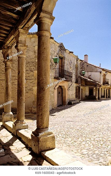 Pedraza is one of Spain's most beautiful walled medieval villages Pedreza is in the province of Segovia  suggest that people lived in clusters in the area as...