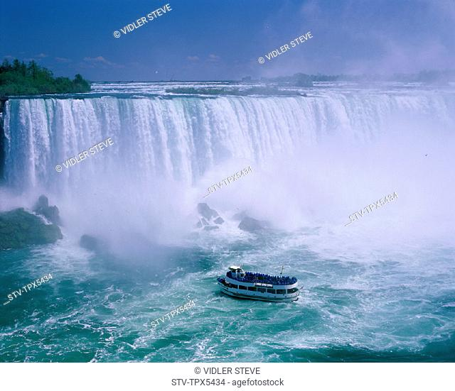 Boat, Canada, North America, Holiday, Landmark, Maid of the mist, Niagara falls, Ontario, Tour, Tourism, Travel, Vacation