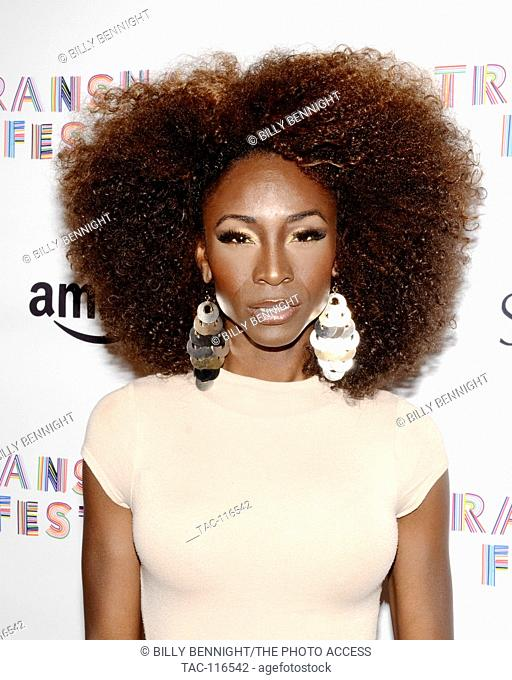"""Angelica Ross attends the TansNation Festival """"""""TransNation Queen USA Beauty Pageant"""""""" at the Ace Hotel Theatre"""