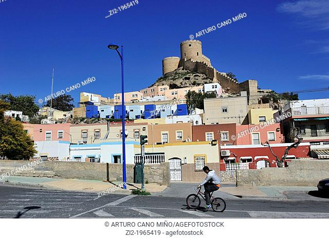 The Alcazaba stands on the La Chanca. Almeria, Spain