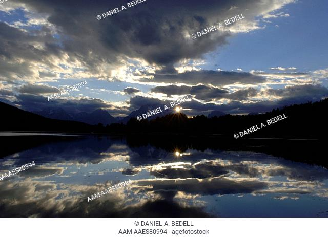 Clouds,Sky & Mount Moran Grand Tetons NP, WY September digital capture