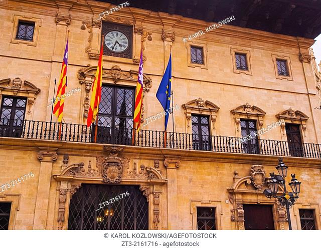 City Hall in Palma de Mallorca, Balearic Islands, Spain