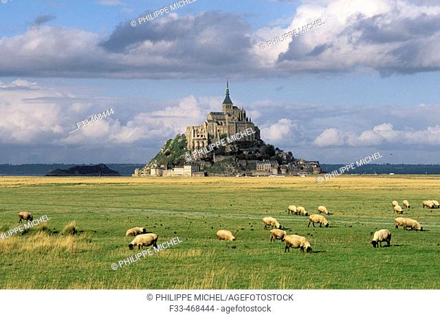 Mont Saint Michel. Manche, Normandy, France
