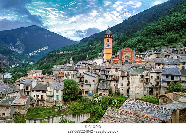 Tende (Alpes Maritimes, France), typical historic town