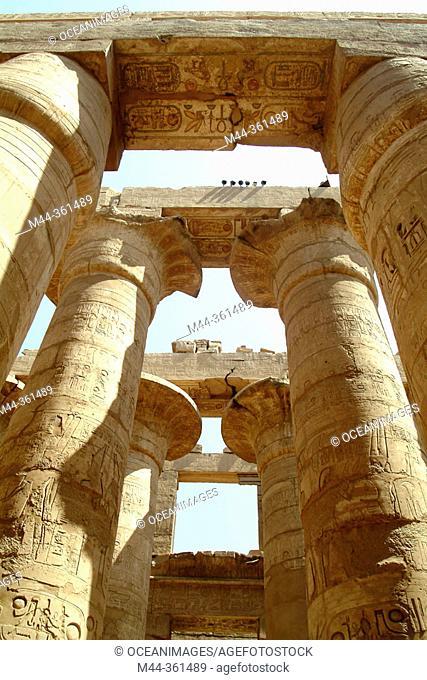 Columns at Karnak temple. Luxor. Egypt