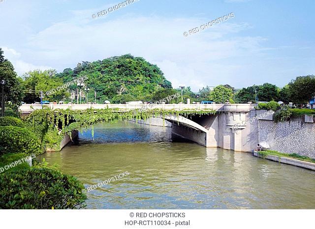 Bridge over a river, Guilin, Guangxi Province, China