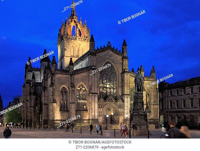 UK, Scotland, Edinburgh, St Giles' Cathedral,