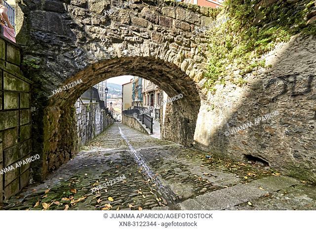 Calzadas de Mallona (Mallona pavement), Bilbao, Biscay, Basque Country, Euskadi, Euskal Herria, Spain, Europe