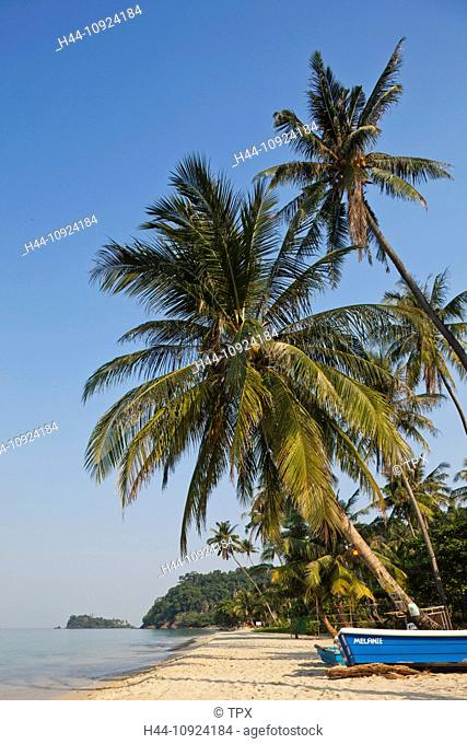 Asia, Thailand, Trat Province, Koh Chang, Ko Chang, Lonely Beach, Beach, Beaches, Tropical Beach, Palm Beach, Palm Tree, Palm Trees, Sea, Sand, Paradise, Resort