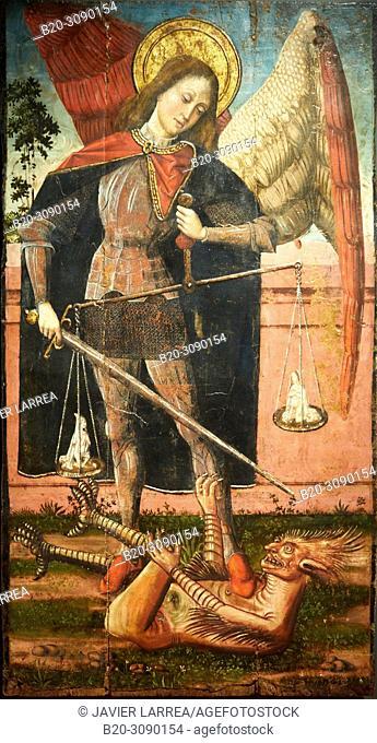 San Miguel Arcángel, 1510-1515, Iglesia de Ruesta, Diocesan Museum, Museo Diocesano, Jaca, Huesca province, Aragón, Spain, Europe