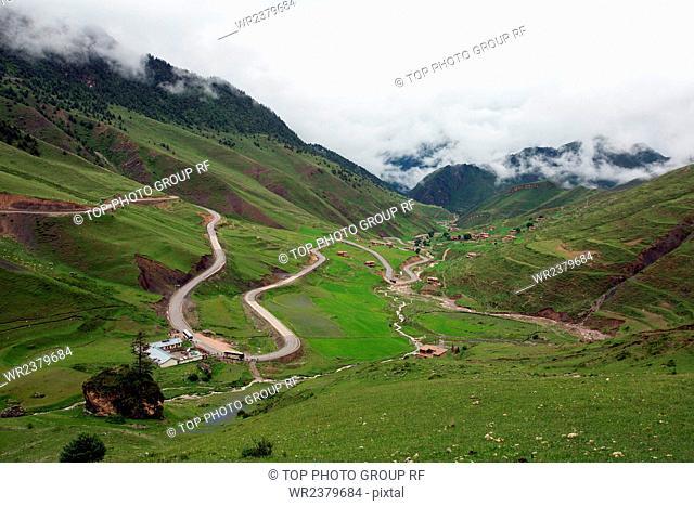 Jomda County mountain
