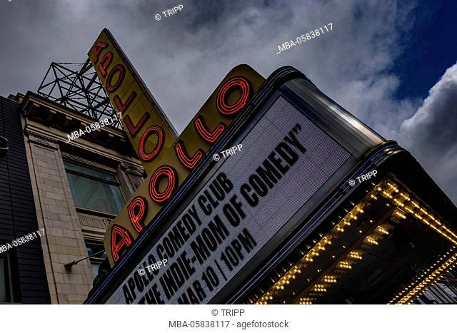Apollo theatre in Harlem in New York