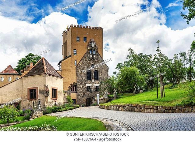 1905 acquired the Berlin architect Bernhard Sehring the site and designed the Roseburg according to his ideas, Rieder, Quedlinburg, Harz, Saxony-Anhalt, Germany