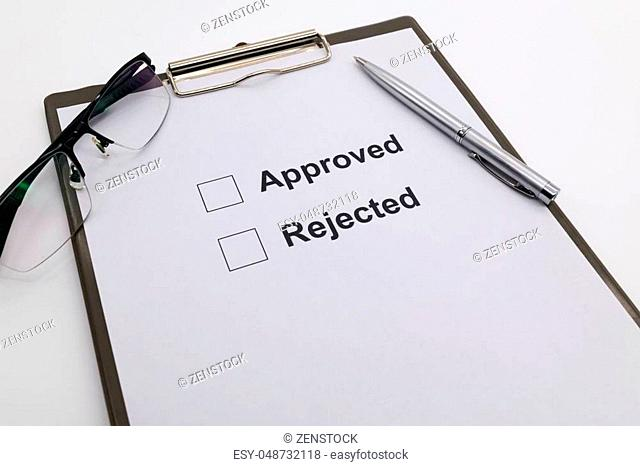 pen over document, select Approved or Rejected
