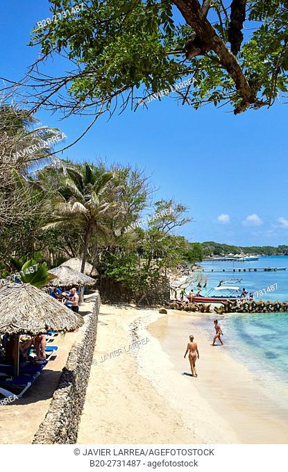 Caribbean Sea beach, Isla Grande, Rosario Islands, Cartagena de Indias, Bolivar, Colombia, South America