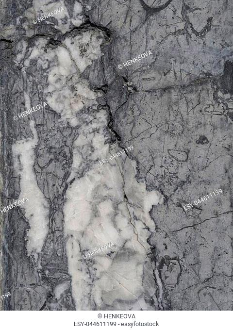 black white grey polished granite marble stone wall - background structure