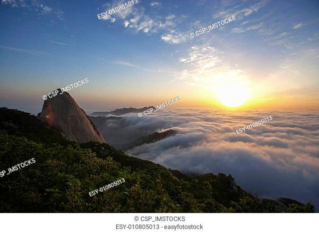 Beautiful mountains in Korea,Bukhansan