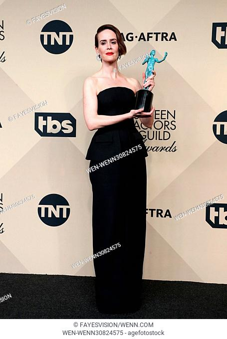 23rd Annual Screen Actors Guild Awards - Press Room Featuring: Sarah Paulson Where: Los Angeles, California, United States When: 29 Jan 2017 Credit:...