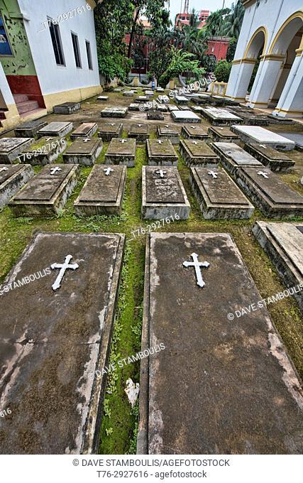 Graves at the Armenian Church of the Holy Resurrection, Dhaka, Bangladesh