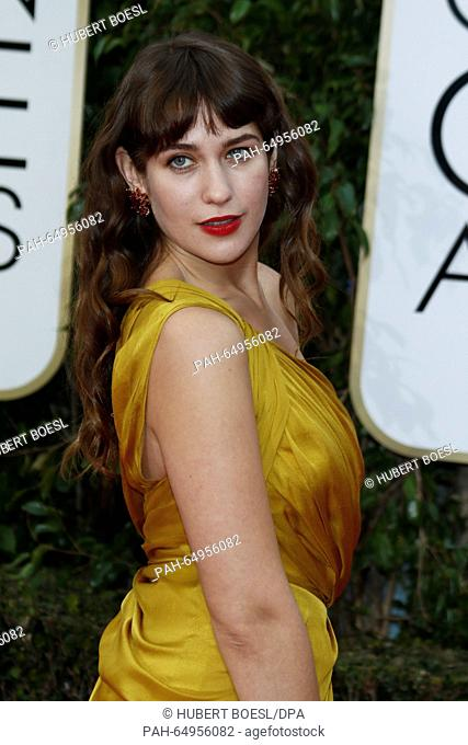 Actress Lola Kirke arrives at the 73rd Annual Golden Globe Awards, Golden Globes, in Beverly Hills, Los Angeles, USA, on 10 January 2016