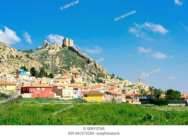 General view of the town of Mula, Murcia,Spain. It is best known for the tamboradas (drumming processions) held during the Holy Week