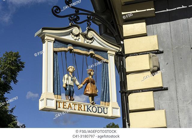 Tartu Mänguasjamuuseumi Teatri Kodu. Tartu. Estonia
