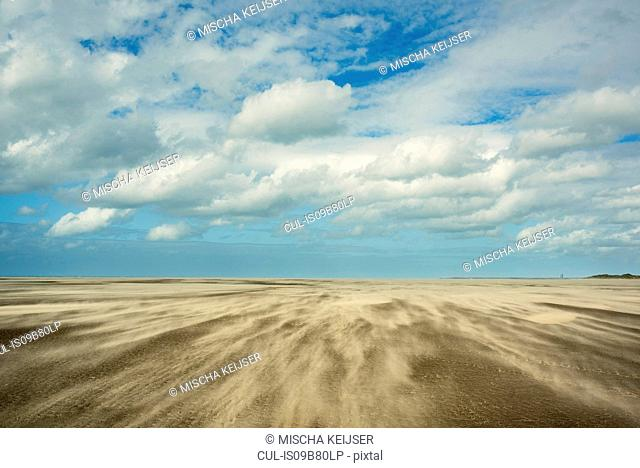 Beach at low tide, Gravelines, Nord-Pas-de-Calais, France